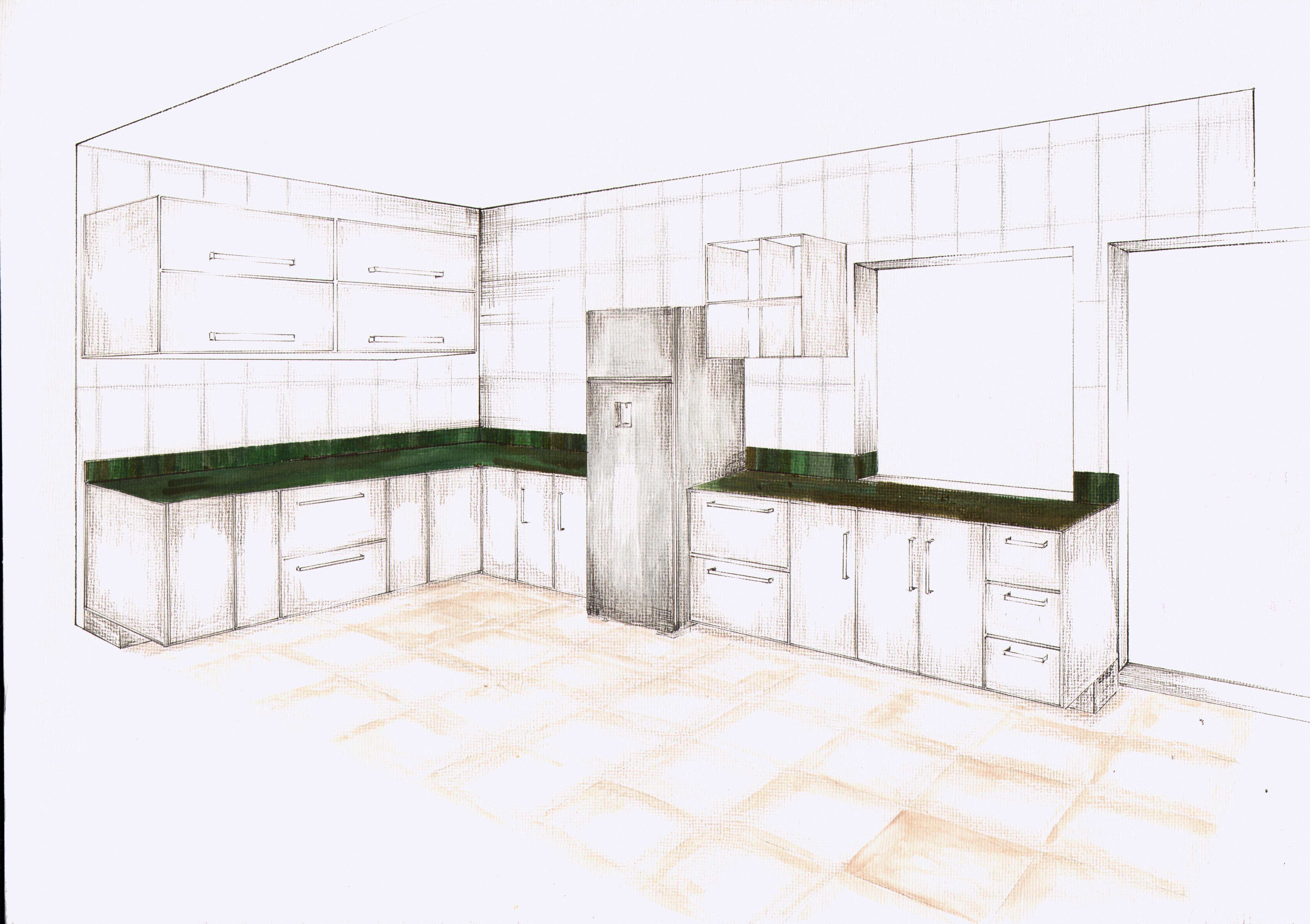Projeto cozinha Renata Acunzo #343D23 6601 4656